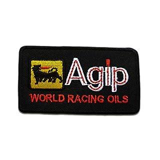 Aufnäher/Bügelbild - Agip Fans Logo Motorsport Biker - schwarz - 4,2 x 7,4 cm - by catch-the-patch Patch Aufbügler Applikationen zum aufbügeln Applikation Patches Flicken