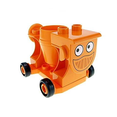 1 x Lego Duplo Bau Fahrzeug Mixi orange Mischer Betonmischer für Bob der Baumeister Figur Dizzy 42236px1 42234 42235 42092c01 ddizzyc01