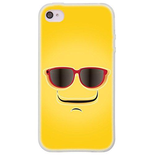 OOH!COLOR 025604_hmi004 Lustig Bomb mit Muster weiche Silikon TPU Bumper-Hülle für Apple iPhone 4/4s klar HUM017
