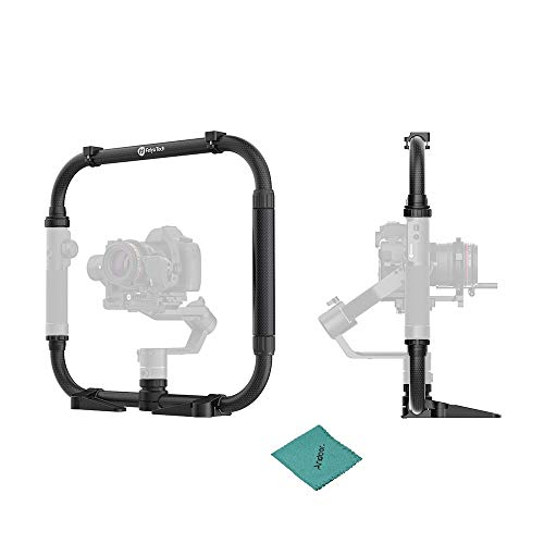 FeiyuTech AK Serie Dual Handle Grip Set Kamera Kage mit 1/4 und 3/8 Zoll Screw Hot Shoe Mount Kohlefaser für FeiyuTech AK2000 AK4000 Stabilisator Gimbal