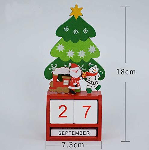Download Ornements de bureau en bois manuel de Noël de calendrier créatif pour le bureau