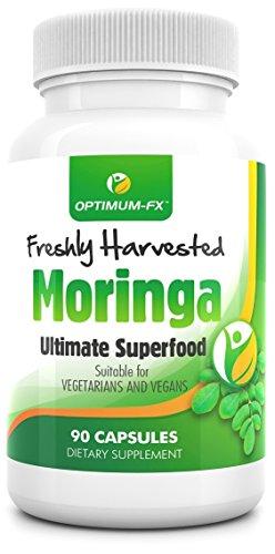 MORINGA Capsule 100% Moringa Olefeira Premium Pura Raccolta Direttamente Dall'Albero Di Moringa Disintossicante Naturale 90 Capsule Sicurezza Vegetariana