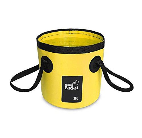 XIAOYA Multifunktional Eimer Wassereimer Outdoor Faltbar Waschbecken Faltschüssel Spülbecken 12L,20L,Yellow,20L
