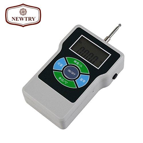 NEWTRY ATL Digitales Spannungsmessgerät mit rundem und scharfem Endkopf/Zahn, elektronisches Tensiometer, hohe Präzision, Dynamometer, tragbar, Spannungsmesser, Gramm-Kraft-Tester - ATL-2Y Tooth Type -