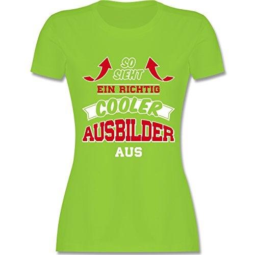 Shirtracer Sonstige Berufe - So Sieht ein Richtig Cooler Ausbilder Aus - Damen T-Shirt Rundhals Hellgrün