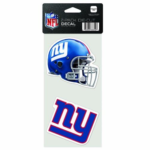 Wincraft NFL 2-teiliges gestanztes Aufkleber, 10,2 x 20,3 cm, New York Giants