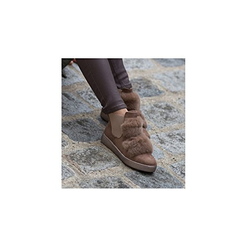 Ideal Shoes, Damen Stiefel & Stiefeletten Taupe
