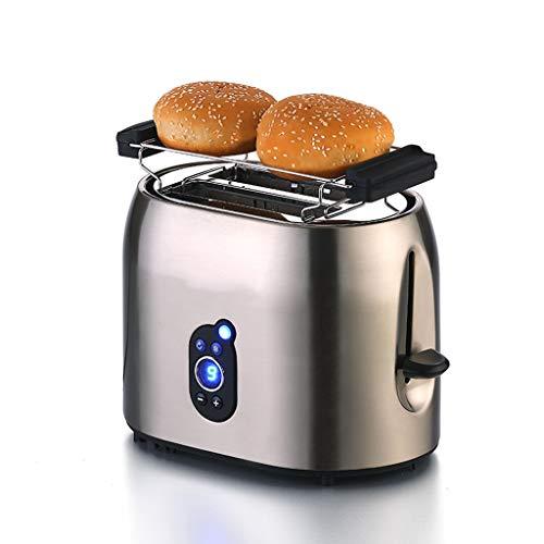 Automatische Defibrillator (ZHongWei - Toaster 2 Toaster, Toaster for Frühstücksautomaten, automatischer Brotschlitz for den privaten Gebrauch, automatische Abschaltfunktion Frühstücksmaschine (Color : Gray))