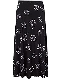 236b2338069 Yours Clothing Women s Plus Size Black   Floral Maxi Skirt with Pockets