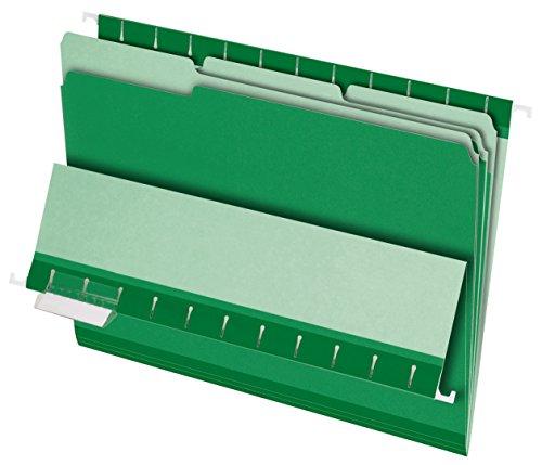 Pendaflex 421013Pendaflex Innenordner, 1/3 Zuschnitt, oberer Tab, Brief, 100/Karton Letter Size hellgrün (Pendaflex Brief)
