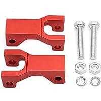 "ZWQ-Cadena, 3.5"" CNC de Aluminio Delantera de la Motocicleta Bajando Ajustable Kit Gota Bajando Bloque Soporte Aptos for la DVX400 KFX400 ltz400 LTZ 400 DVX KFX (Color : Rojo)"