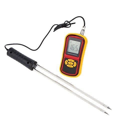 KKMOON GM640 Misuratore di umidità portatile digitale di grano Rilevatore di umidità con Tester Display LCD sonda di misura per mais grano riso Bean grano igrometro