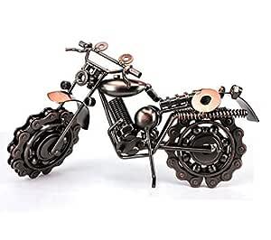 Vintage Metal  Diecast Motorcycle Model Iron Crafts Bar Decoration Toys Handmade