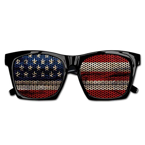 EELKKO Mesh Sunglasses Sports Polarized, Wooden Planks Painted As United States Flag Patriotic Country Style,Fun Props Party Favors Gift Unisex