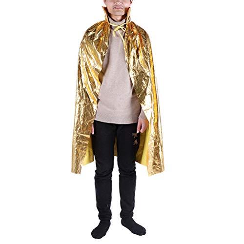 Gold Cape Kostüm - Amosfun Halloween Cosplay Umhang Kostüm Gold