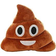 STRIR Emoji Emoticono Cojín Almohada Redonda Emoticon Peluche Bordado Sonriente 14*10*4.5cm