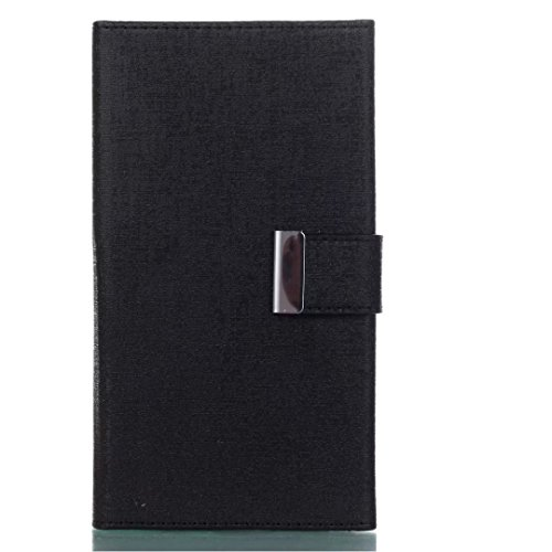 Cross Lines Texture Dreifach Typ PU Leder Brieftasche Case mit freistehenden TPU Back Cover Card Slots für Samsung Galaxy J7 2017 ( Color : Blue ) Black