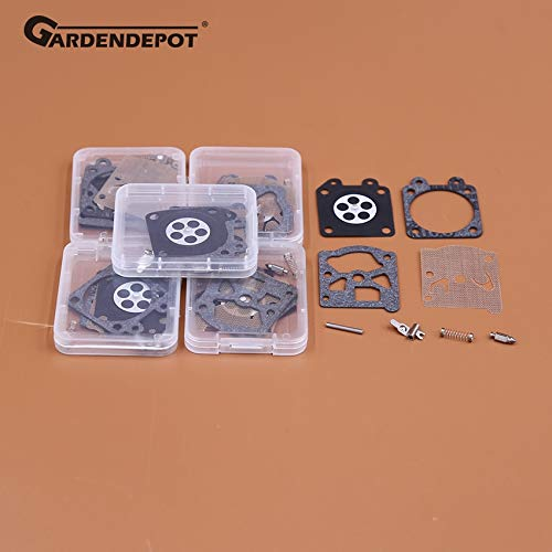 Laliva Tools - 5er Set Vergaser Vergaser Reparatur Umbau Membran Kit für Partner 350 351 370 420 Walbro 33-29 Kettensäge Ersatzteile
