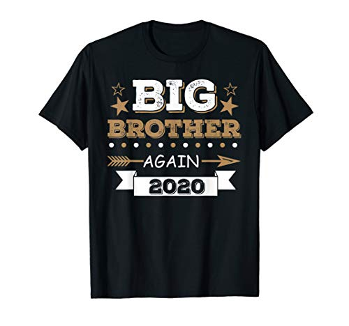 Promoted to Big Brother Again 2020 Vintage Arrow T-Shirt -