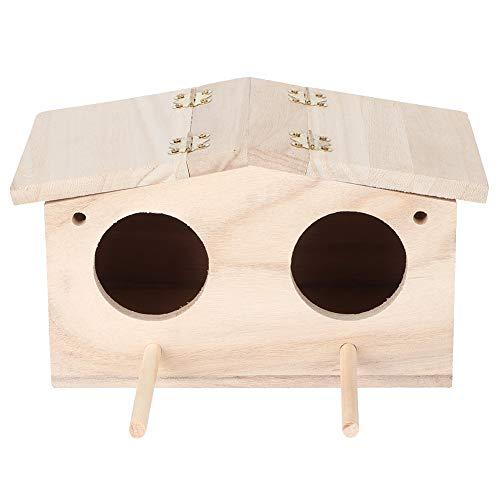 Bird House, Nido de Madera para Mascotas, nidos de pájaros, Caja de cría, Jaula, Accesorios para pajarera...