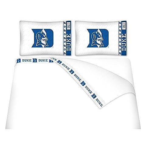 NCAA Duke Blue Devils Micro Fiber Sheet Set, Twin