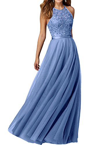 Promgirl House Robe du soir Robe de cocktail Robe de bal séduisante Noir Broderie Bretelles en A Bleu