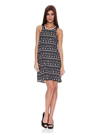 Springfield - Kleid mit Aufdruck - Damen, 44, schwarz