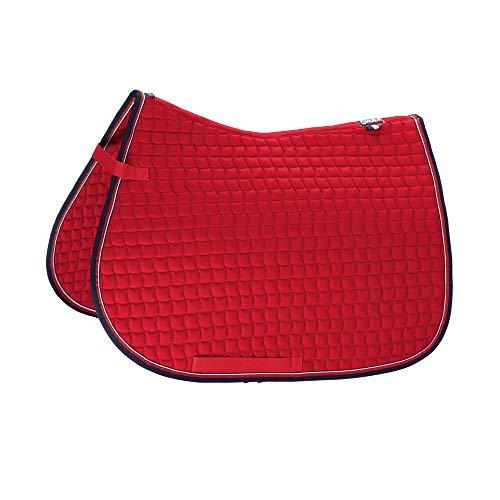 Eskadron Basic Cotton Schabracke in Chilli red, Größe:Vielseitigkeit (VS), Farbe:Chilli red