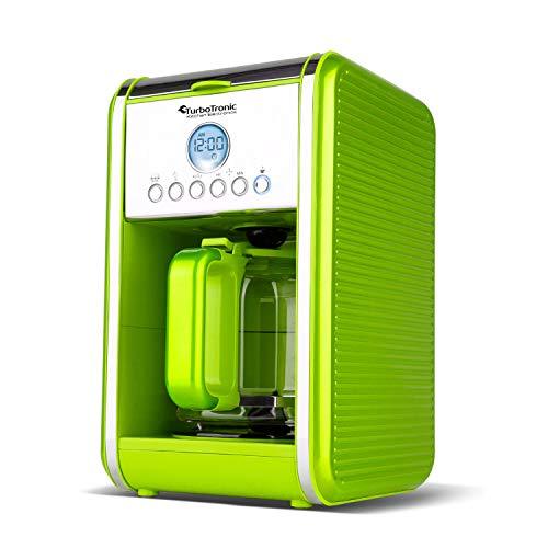 Retro Kaffeemaschine für 12 Tassen (1,6 L) inklusive Dauerfilter und Warmhalteplatte, Timer-Programmierung, Filtermaschine, Dauerfilter