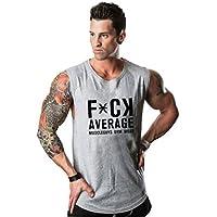 Camisas sin mangas de las camisetas sin mangas de la marca Ropa hombre suave undershirts aptitud largueros interiores de las camisas del entrenamiento muscular del chaleco ( Color : Gray , Size : M )