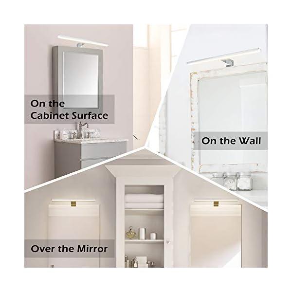 Wowatt Lampara de Espejo Baño IP44, Aplique Espejo Baño 8W 640LM Aluminio Lámpara Armario LED 40CM Luz de Pared 4000K Blanca Neutra 230V Lámpara Impermeable de Espejo Gabinete Pared