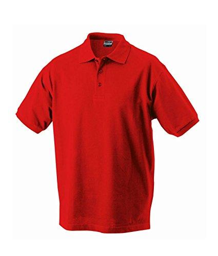 Herren Poloshirt Klassisches Polohemd mit Armbündchen Sport kurzarm Polo Shirts in verschiedene Farben signal-red