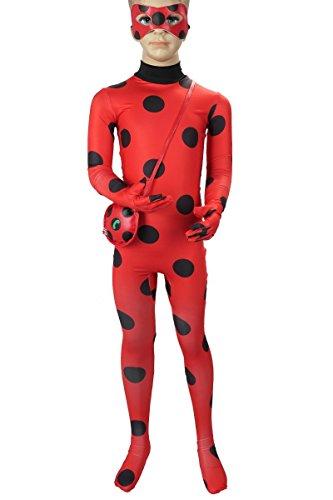 Miraculous Ladybug Kinder Kostüm von Marinette Dupain Cheng, Größe: 130