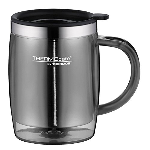 ThermoCafé by Thermos 4059.235.045 Tasse Desktop Mug, 0.35 L, Kunststoff, grau