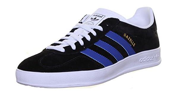 promo code 999a8 98153 Adidas Originals Gazelle Indoor Mens Suede Leather Trainers (10 UK, Black  Blue EK) Amazon.co.uk Shoes  Bags