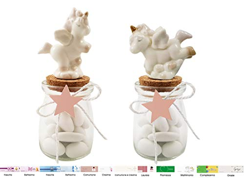 Irpot kit 12 bomboniere unicorno rosa kb51211 modelli assortiti (anfora bt56x73)