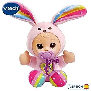 VTech- Little Love Dulce Conejito Muñeca interactiva Que Habla y enseña números (3480-526522)