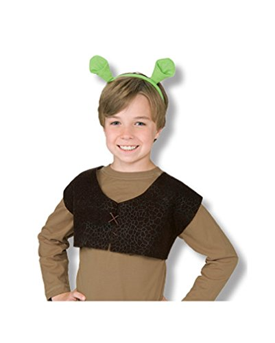 Shrek Weste und Ohren für (Kinder Shrek Kostüm)