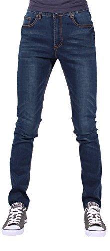 G-King Uomini Ragazzi Skinny Super Star Elasticizzato Jeans è Time Money Hip Hop - cotone, (Frontale Jeans Aderenti)