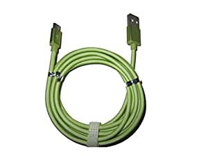 Dhhan Extra Long(2 Mtr) Green Fish Net Charge/Sync Cable For Videocon V1530N