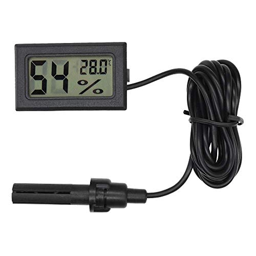 Eidyer - Termómetro digital higrómetro, mini sonda incrustada, termómetros de temperatura y humedad...