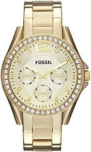 ساعة يد فوسيل للنساء متعددة الوظائف من الفولاذ المقاوم للصدأ رايلي