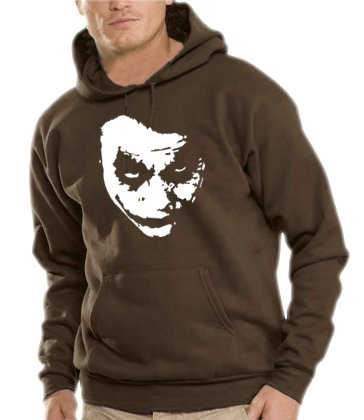 Touchlines Herren Heath Ledger - JOKER Kapuzen Sweatshirt B7138 brown XL Preisvergleich