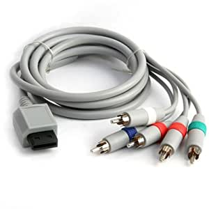 Black Nintendo Wii 1.8M HD Pro Component Cable For Nintendo Wii