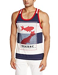 Breakbounce Mens Cotton Vest (8907066089012_Itera_Medium_Off White and Ari Na)