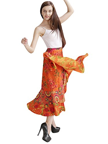Women Wrap Party Hippie Dress Cotton designer Skirt Summer Beach Skirt Indian Dress Aakriti Gallery (Womens Designer Rock Baumwolle)