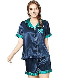 Pijamas Bata Sexy para Mujer Camisa Vestido De Novia De Lujo Cardigan De Encaje Impreso Pantalones