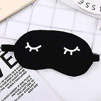 SMAQZ Eye mask-3PCScute sleep blackout goggles black 10 * 20cm