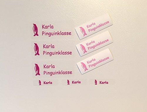 100 MDS Labels© Namensetiketten im Set (Aufkleber, Stiftaufkleber und Bügeletiketten) für die Schule transparent