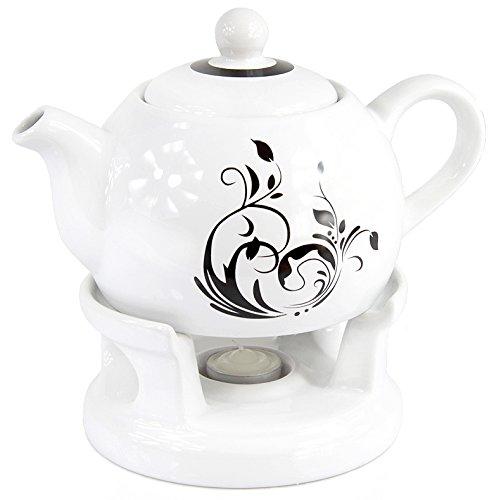 Teekanne Kanne Stövchen Set elegant modern Design